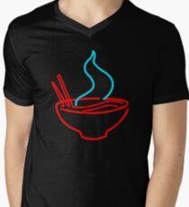 Spicy Ramen Noodles Neon Men's V-Neck T-Shirt