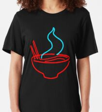 Spicy Ramen Noodles Neon Slim Fit T-Shirt
