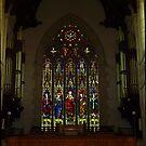 Leadlight Window at Sacred Heart Catholic Cathedral, Bendigo by Bev Pascoe