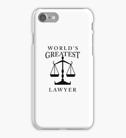 World's Greatest Lawyer iPhone Case/Skin