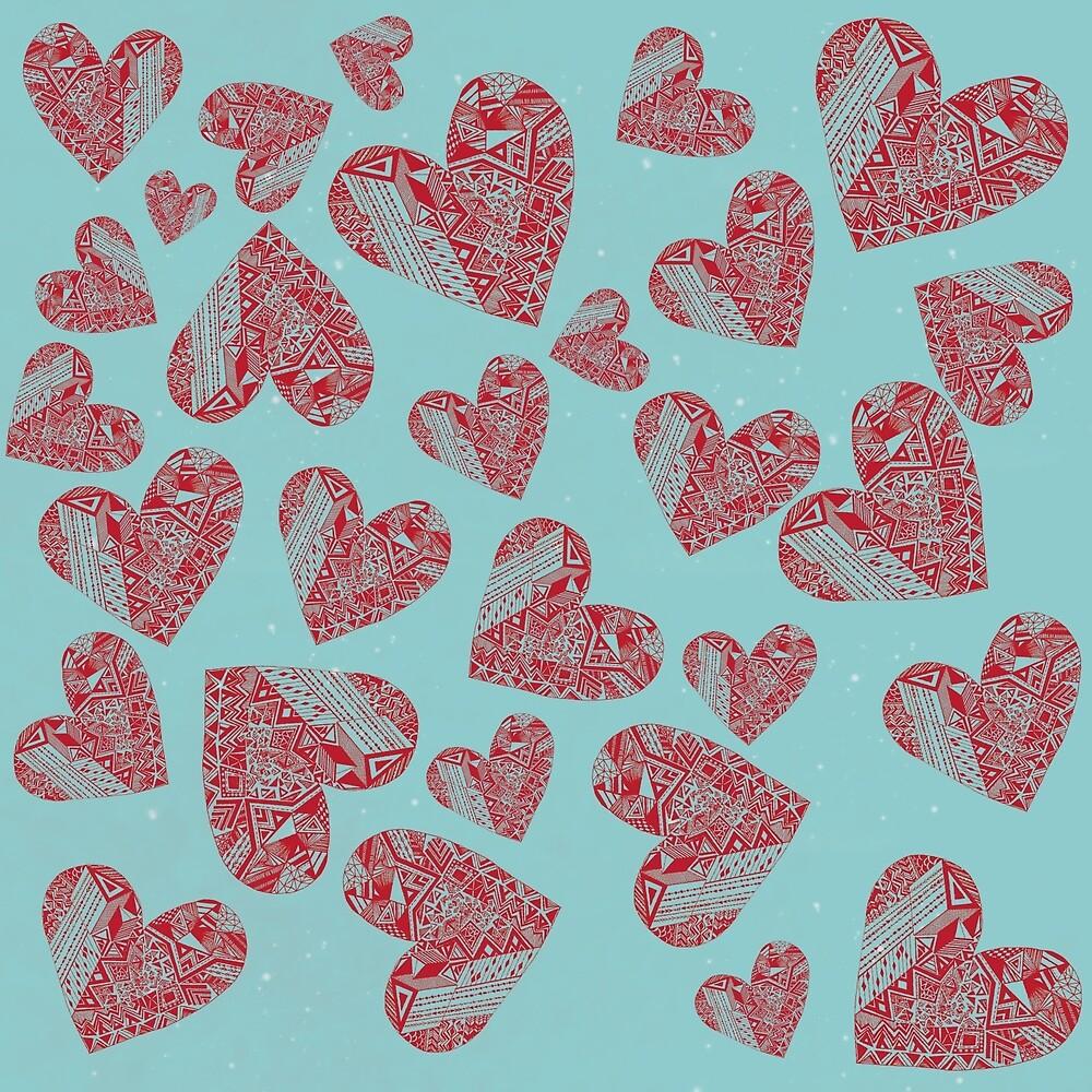 hearts by monicamarcov