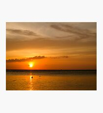Orange Sky Photographic Print