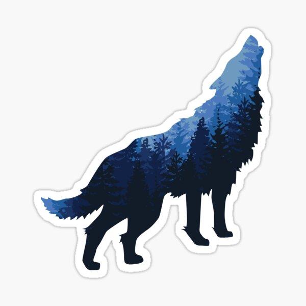le loup. Sticker