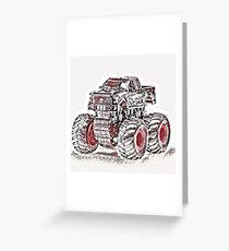 Japan Art Style Truck Greeting Card