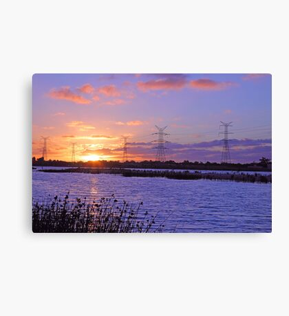 Champion Lake Sunset  Canvas Print