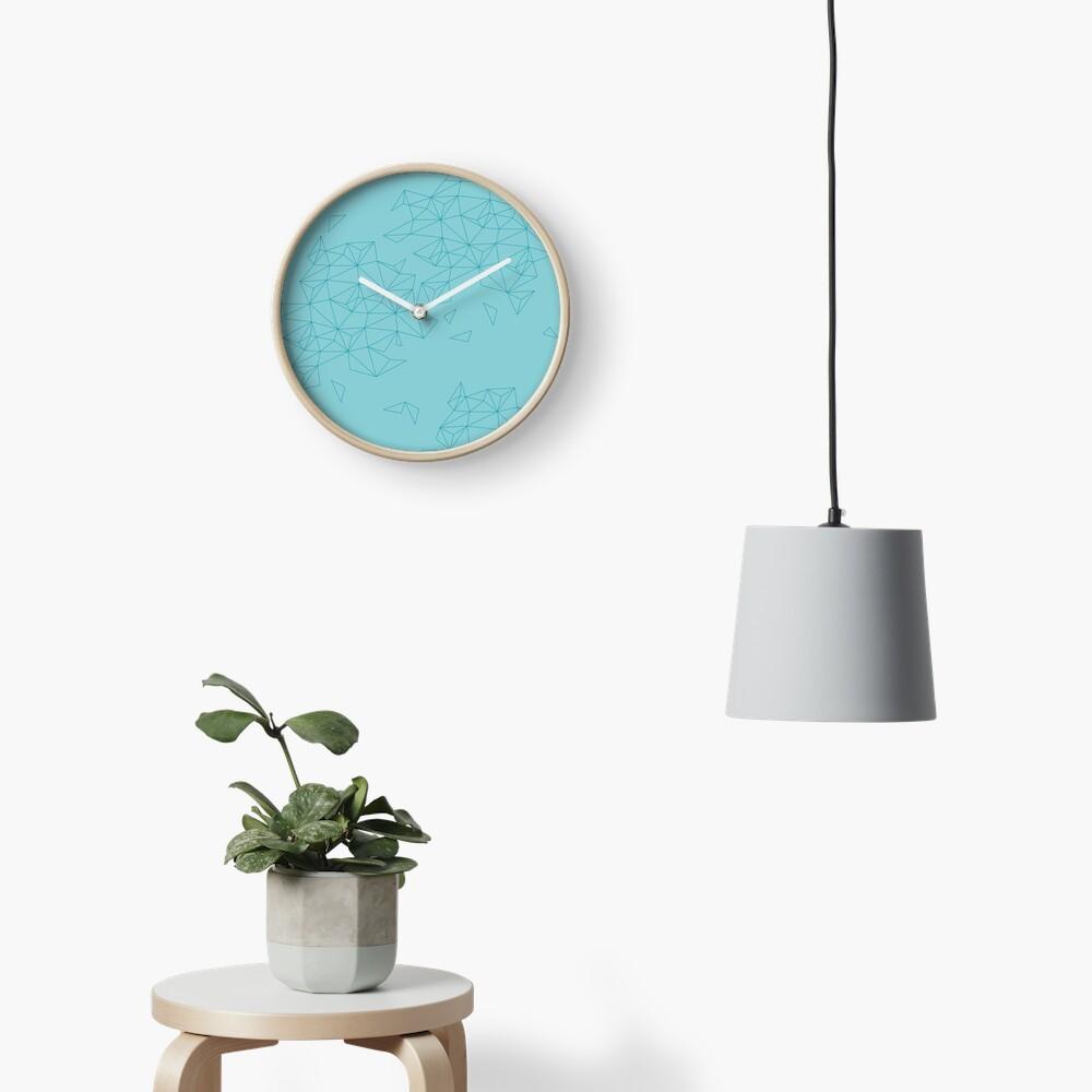 geometric landscape Uhr