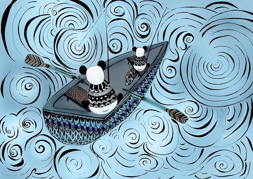 Pandas gone fishing by monicamarcov
