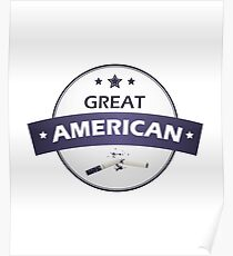 Great American don't smoke Poster