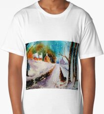 Snowy Christmas eve Long T-Shirt