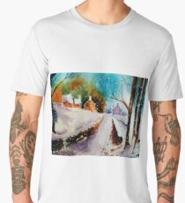 Snowy Christmas eve Men's Premium T-Shirt