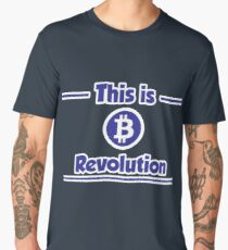 B Revolution - Blue Men's Premium T-Shirt
