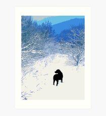 Treasures - Black Labrador Art Print