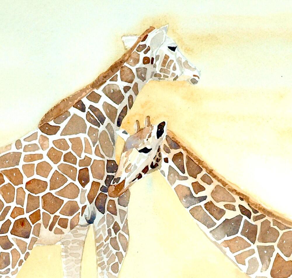 Giraffes by Susie a'Beckett