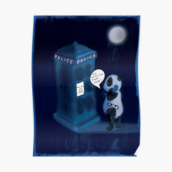 Officer Panda Police Box Poster