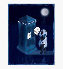 Officer Panda Police Box Photographic Print