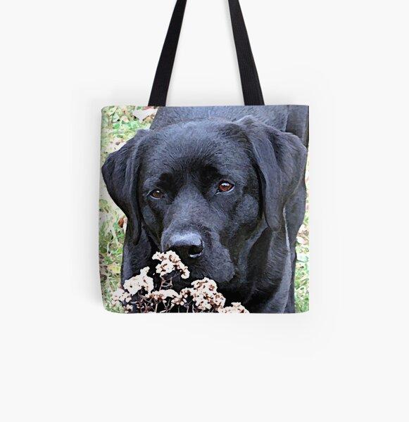 Prenez le temps - Black Labrador Tote bag doublé