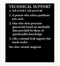 Lámina fotográfica Funny Tech Support Definición Computer Geek Gag Gift