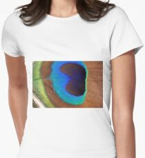 Peacock Feather Women's Fitted T-Shirt