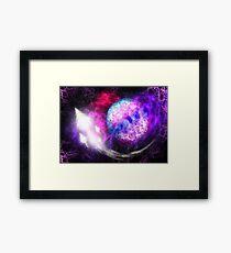 Space Squid Framed Print