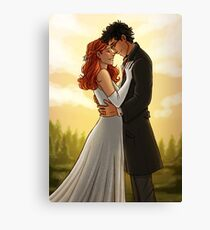 James and Lily wedding Canvas Print