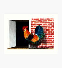 Barnyard Rooster Art Print