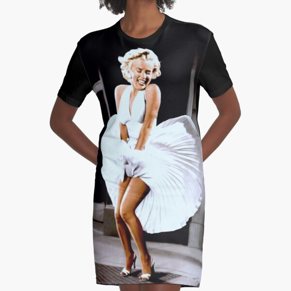 MARILYN MONROE: Scene of her Skirt Blowing Up Print Graphic T-Shirt Dress