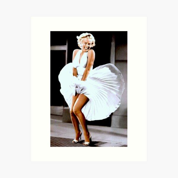 MARILYN MONROE: Scene of her Skirt Blowing Up Print Art Print