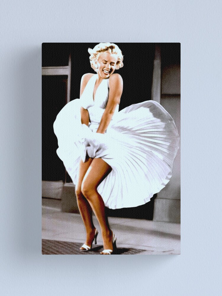 Alternate view of MARILYN MONROE: Scene of her Skirt Blowing Up Print Canvas Print