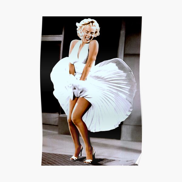 MARILYN MONROE: Scene of her Skirt Blowing Up Print Poster