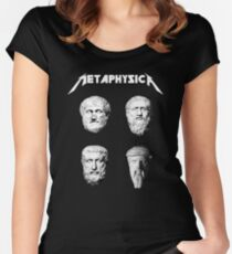 Metaphysica - Fun Metal Philosophy Shirt Women's Fitted Scoop T-Shirt