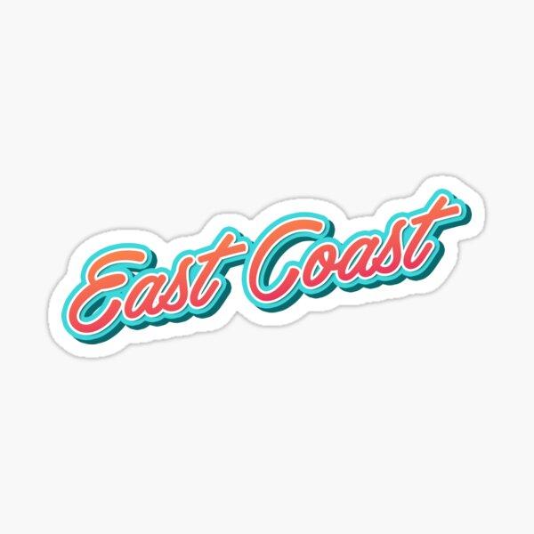 East Coast Typography Sticker