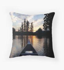 Sunset on a lake Throw Pillow