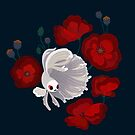 Bettas and Poppies by pikaole