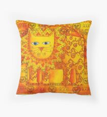 Patterned Lion Throw Pillow
