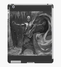 RPG Necromancy Fantasy Fengil Sorcerer Wizard Necromancer casting a black magic spell in his secret dungeon iPad Case/Skin