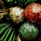 colorful ornaments by Cheryl Dunning