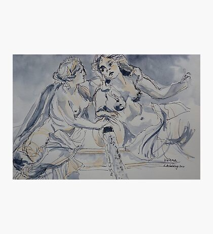 Marble statues, Parliament, Vienna 2010Ⓒ  Photographic Print