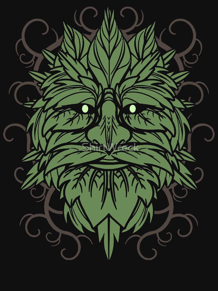 TRADITIONAL CELTIC WICCA PAGAN GREENMAN T-SHIRT AND MERCHANDISE by ShirtWreck