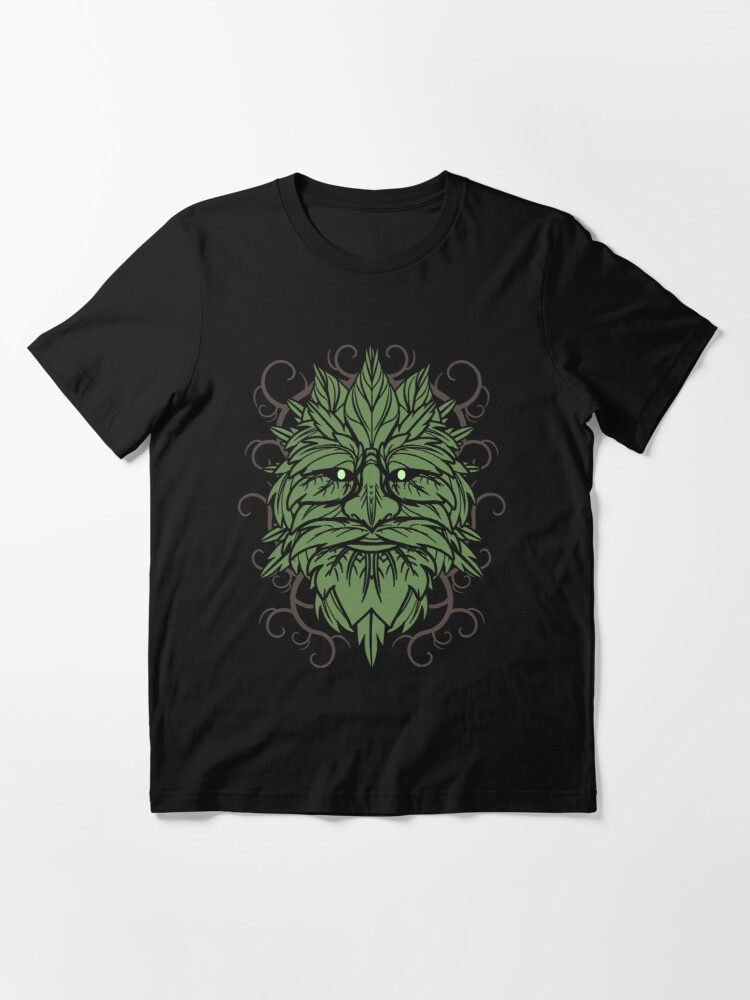 Alternate view of TRADITIONAL CELTIC WICCA PAGAN GREENMAN T-SHIRT AND MERCHANDISE Essential T-Shirt