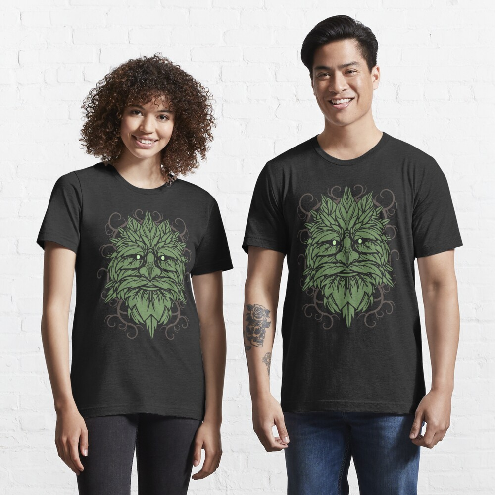 TRADITIONAL CELTIC WICCA PAGAN GREENMAN T-SHIRT AND MERCHANDISE Essential T-Shirt