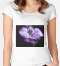 Purple Flora Women's Fitted Scoop T-Shirt