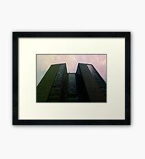 Big City Skyline........the pastel set  # four Framed Print