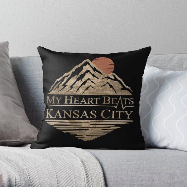My Heart Beats Kansas City Throw Pillow