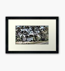 Which Motel? Framed Print