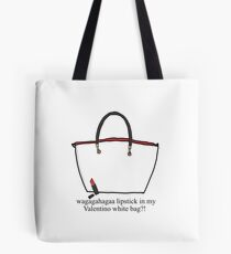 b45a517189d1 Lipstick in my Valentino white bag ! Tote Bag