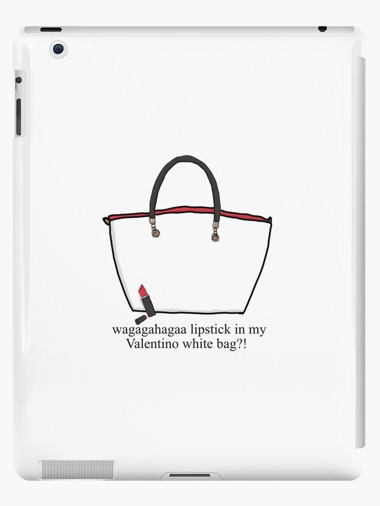 a72b21581b14 Lipstick in my Valentino white bag !