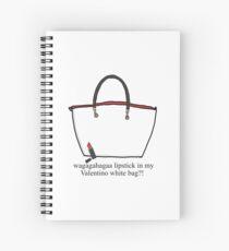 7cbfd688633a Lipstick in my Valentino white bag ! Spiral Notebook
