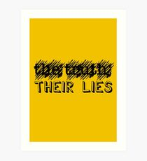 Paramore: Scribble Out the Truth with Their Lies - BLK Art Print