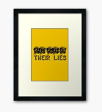 Paramore: Scribble Out the Truth with Their Lies - BLK Framed Print