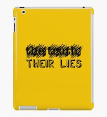 Paramore: Scribble Out the Truth with Their Lies - BLK iPad Case/Skin